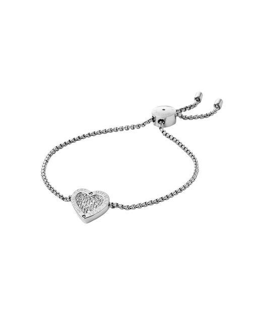 Michael Kors   Brown Heart Slider Bracelet   Lyst