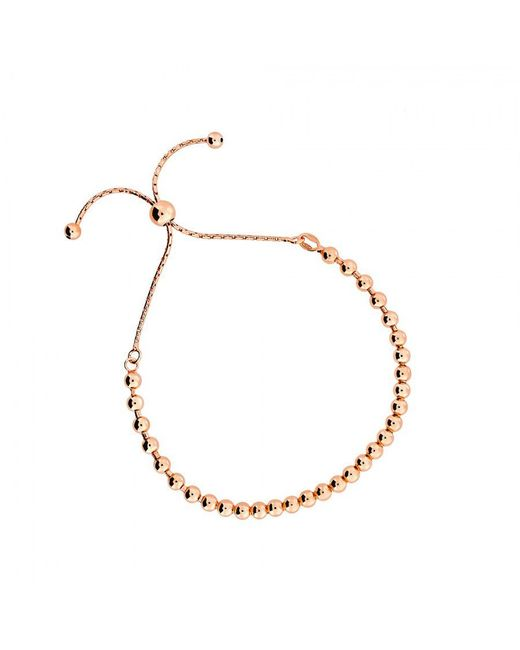 Azendi | Pink Rose Vermeil Adjustable Bead Bracelet | Lyst