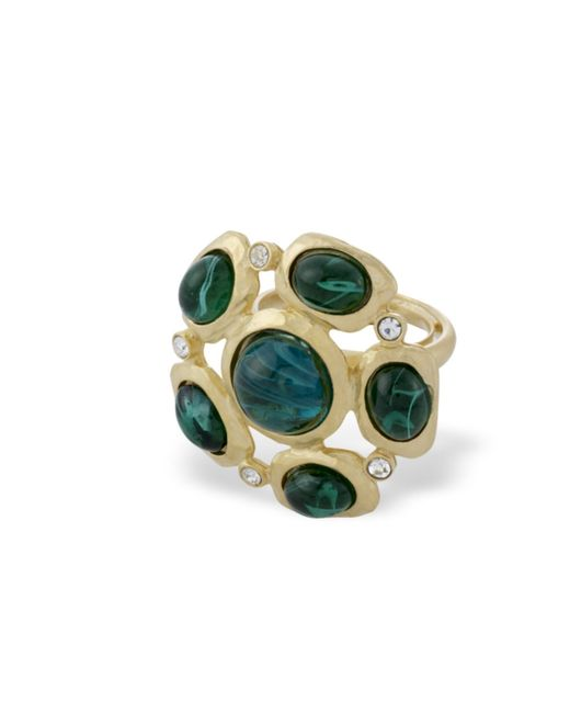 Kenneth Jay Lane | Green Emerald Cabochons Ring | Lyst