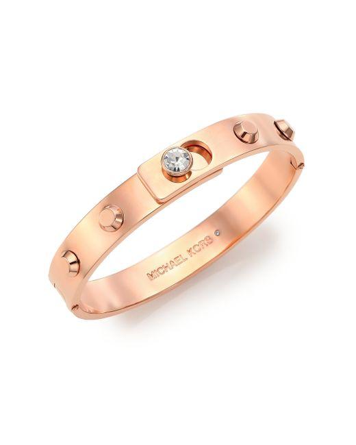 Michael Kors | Metallic Cityscape Astor Studded Bangle Bracelet/Rose Goldtone | Lyst
