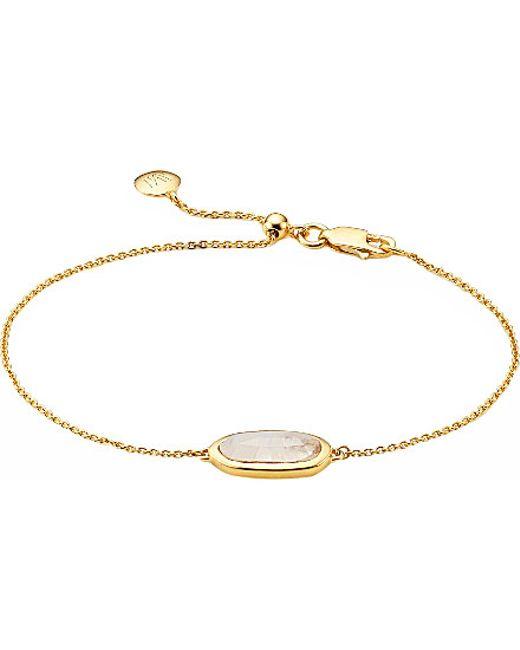 Monica Vinader | Metallic Vega Yellow Gold-plated Moonstone Bracelet | Lyst