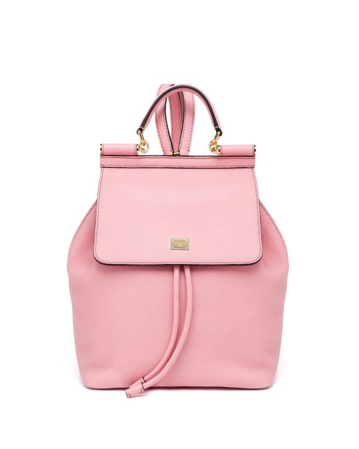Dolce & Gabbana   Pink Sicily Leather Backpack   Lyst
