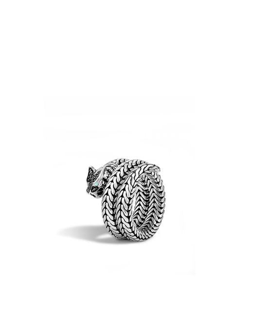 John Hardy | Metallic Macan Coil Ring With Black Sapphire | Lyst