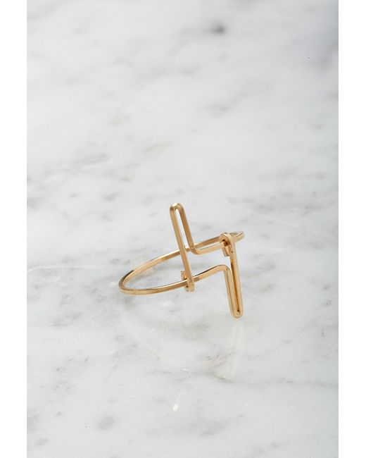 Forever 21 | Metallic By Boe Double Linear Ring | Lyst