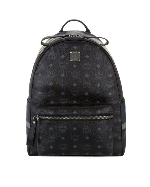 MCM | Blue Visetos Medium Stark Backpack | Lyst