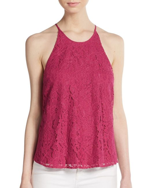 Joie | Pink Cualli Lace Top | Lyst