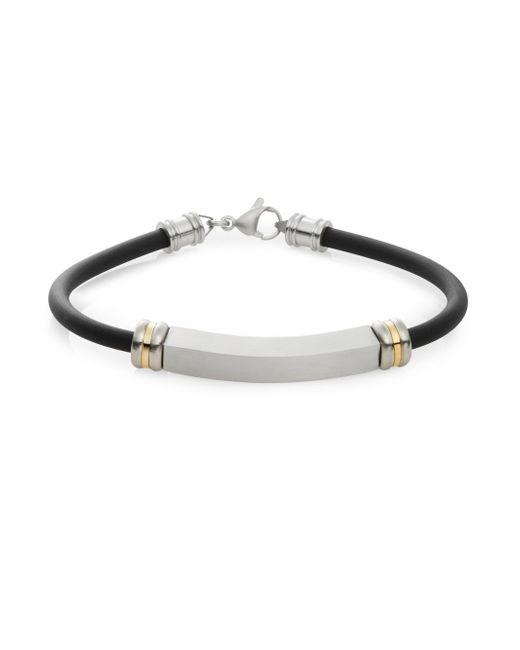 Saks Fifth Avenue | Metallic Stainless Steel & 14k Yellow Gold Bracelet for Men | Lyst