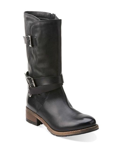 Clarks | Black Clarks 'volara Melody' Moto Boot | Lyst