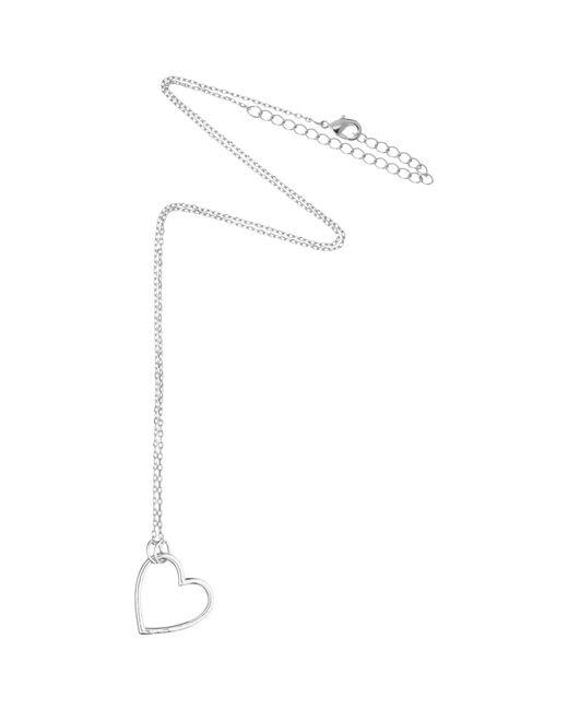 Estella Bartlett   Metallic Open Heart Pendant Necklace   Lyst