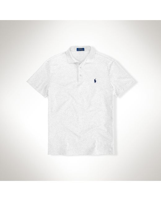 Polo Ralph Lauren | White Custom-fit Pima Cotton Polo for Men | Lyst