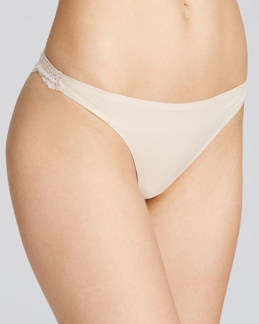 Stella McCartney | Natural Smooth & Lace Thong #s37-250 | Lyst