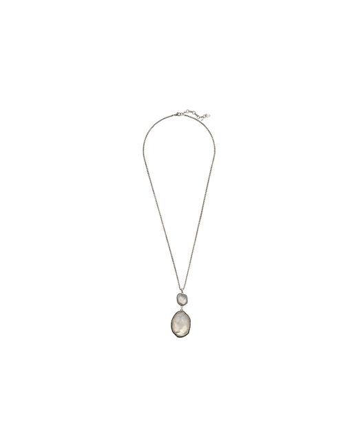 Lucky Brand | Metallic Organic Stone Pendant Necklace | Lyst