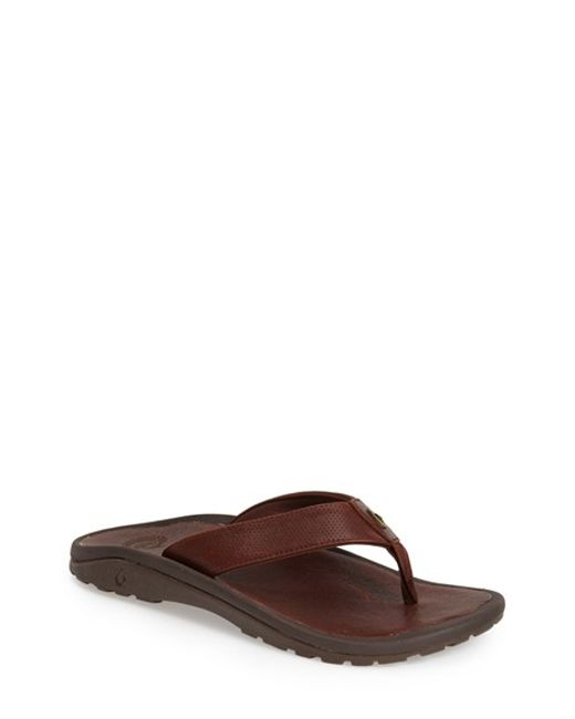 Olukai | Brown 'kupuna' Flip Flop for Men | Lyst