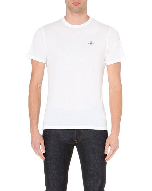 Vivienne Westwood | White Classic Cotton-jersey Orb T-shirt for Men | Lyst