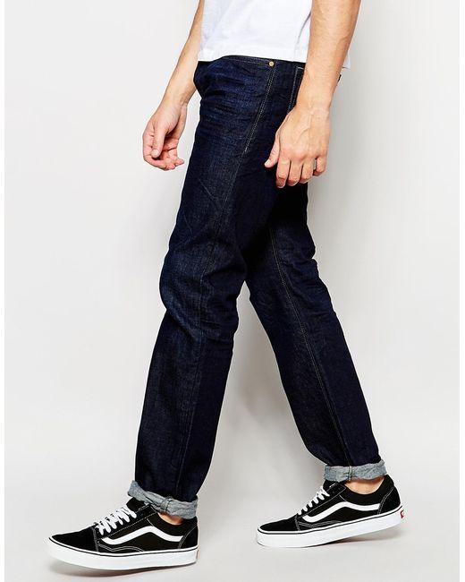 diesel jeans buster 823k regular slim fit dark wash in blue for men darkwash lyst. Black Bedroom Furniture Sets. Home Design Ideas