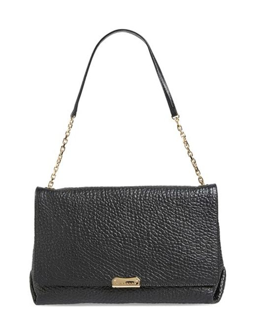 Burberry | Black Large Mildenhall Leather Shoulder Bag | Lyst