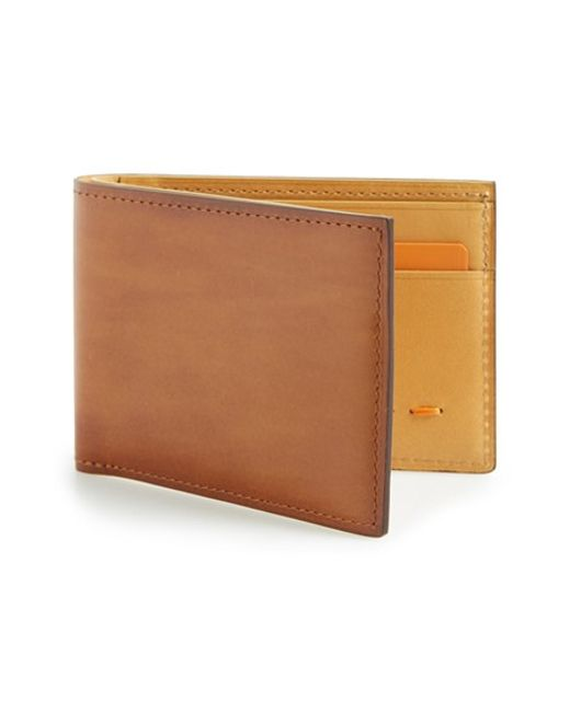 Saks Fifth Avenue | Brown 'arkansas' Leather Bifold Wallet for Men | Lyst