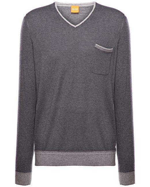 BOSS Orange | Blue Sweater 'kornelio' In A Cotton Blend for Men | Lyst