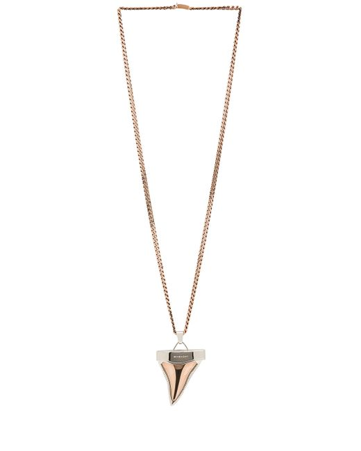 Givenchy | Pink Silvertone Doubled Shark Tooth Necklace | Lyst