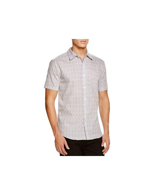 Sovereign code fauna microfloral short sleeve button down for White short sleeve button down shirts for men