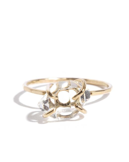 Melissa Joy Manning | Metallic Prong Set Herkimer Diamond Ring | Lyst