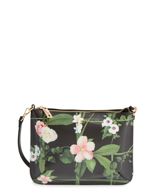 Ted Baker U0026#39;secret Trellisu0026#39; Leather Crossbody Bag In Floral (BLACK) - Save 41%   Lyst