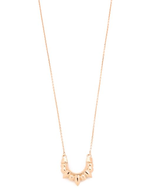 Pamela Love | Pink Mini Spike White Topaz Pendant Necklace | Lyst