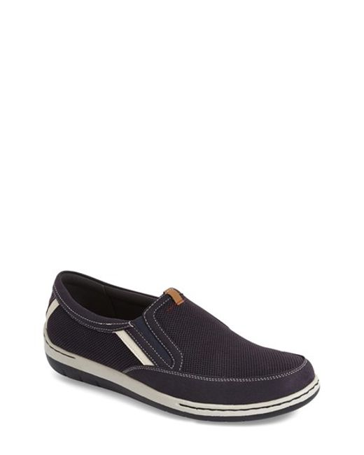 dunham fitsync slip on sneakers in blue for navy lyst