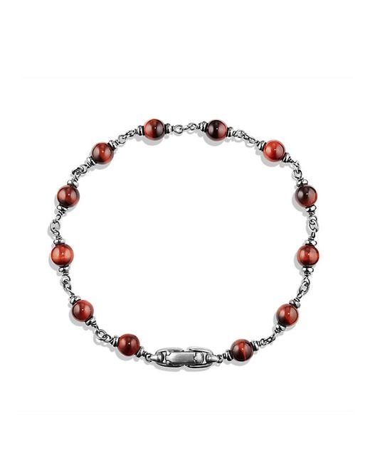 David Yurman | Spiritual Beads Rosary Bracelet In Red Tiger Eye for Men | Lyst