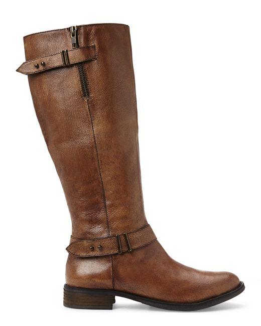 steve madden cognac alyy boots in brown lyst