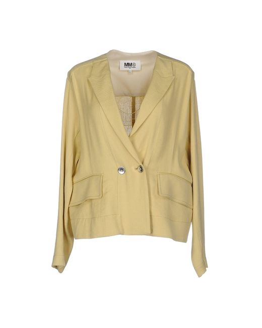 MM6 by Maison Martin Margiela | Yellow Blazer | Lyst