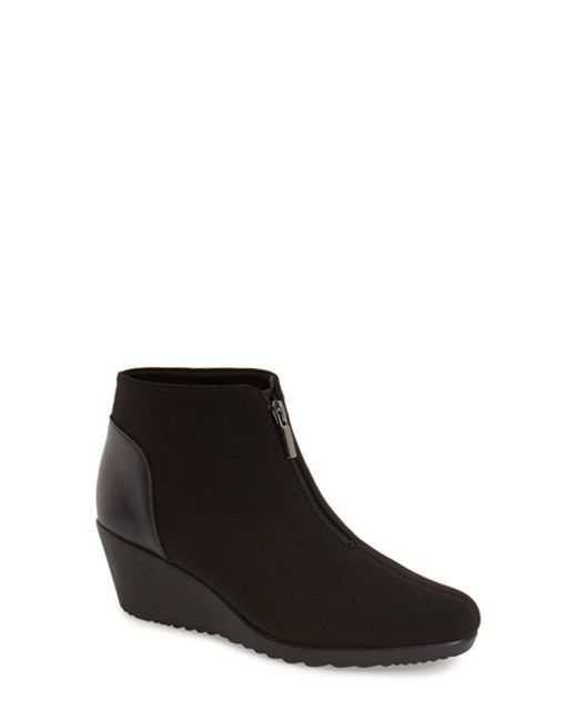 Munro | Black 'rachael' Bootie - Multile Widths Available | Lyst