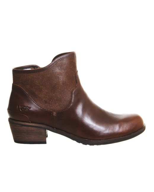 ugg penelope ankle boots in brown chestnut save 33 lyst