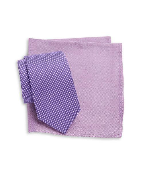 Tallia Orange | Purple Tie And Pocket Square Set for Men | Lyst