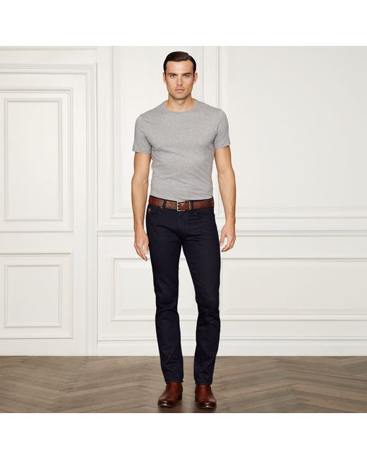 Ralph Lauren Purple Label | Gray Pima Cotton Lisle T-shirt for Men | Lyst