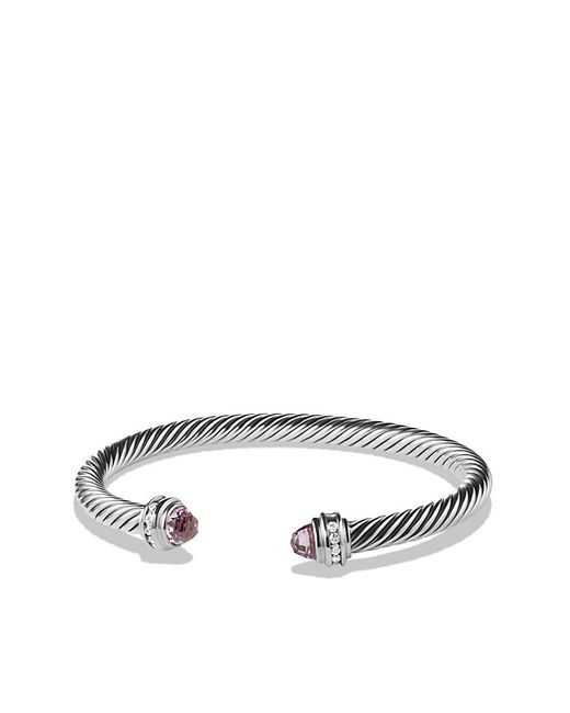 David Yurman | Purple Cable Classics Bracelet With Lavender Amethyst And Diamonds, 5mm | Lyst