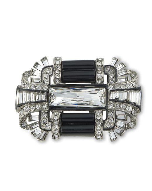 Kenneth Jay Lane | Metallic Black Art Deco Brooch | Lyst
