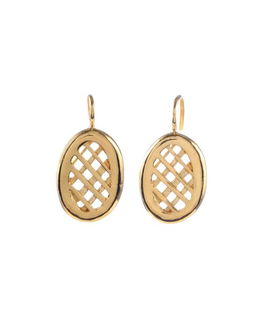Jill Golden | Metallic Oval Lattice Earrings | Lyst