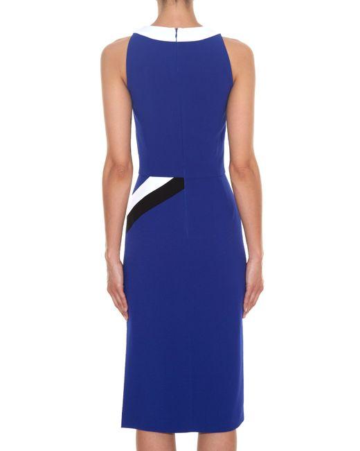 Altuzarra | Blue Klein Chevron-Print Dress | Lyst