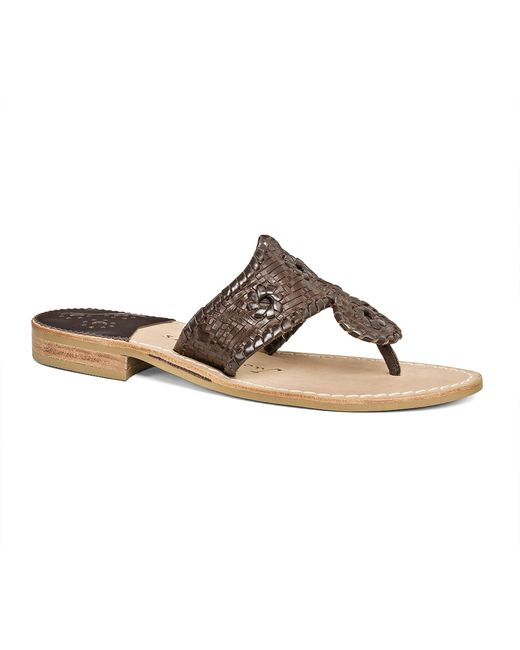 Jack Rogers   Brown Willow Sandal   Lyst