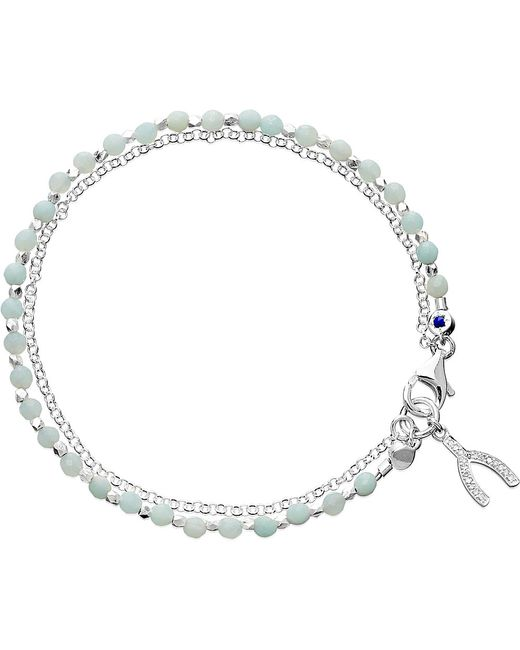 Astley Clarke | Metallic Amazonite Wishbone Biography Bracelet | Lyst