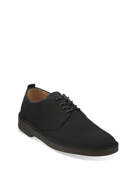 Clarks | Black Clarks 'desert London' Plain Toe Derby for Men | Lyst