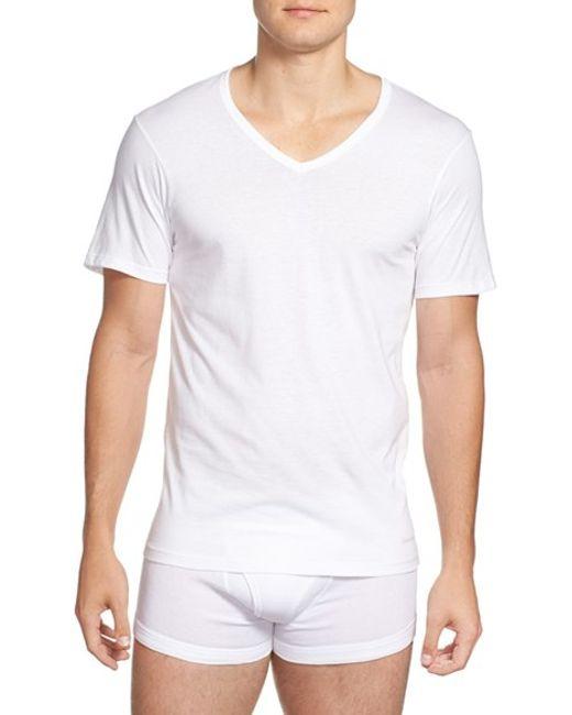 Calvin Klein | Slim Fit 3-pack Cotton T-shirt, White for Men | Lyst