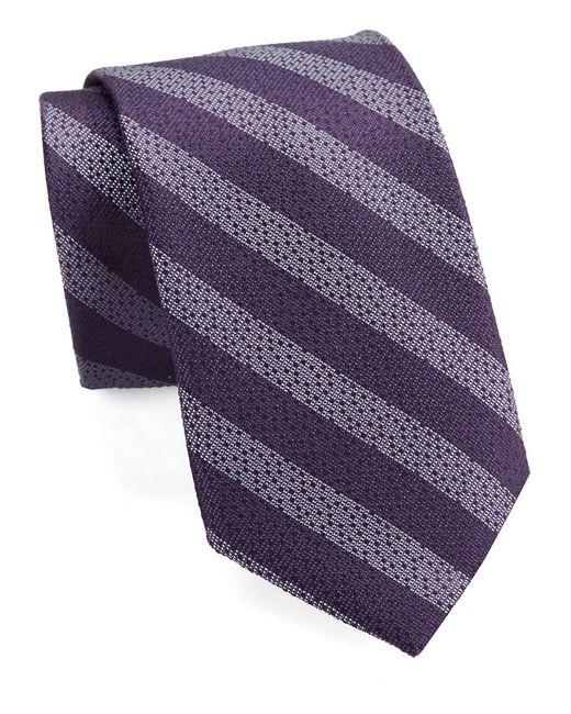 William Rast | Purple Textured Striped Tie for Men | Lyst
