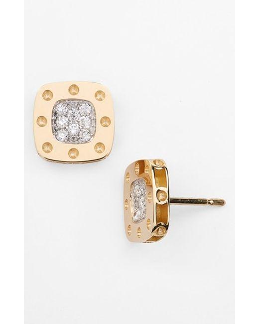 Roberto Coin   Metallic 'pois Moi' Diamond Stud Earrings   Lyst