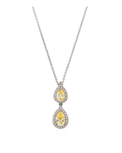 Carat* | 1.5ct Fancy Yellow Pear Necklace | Lyst