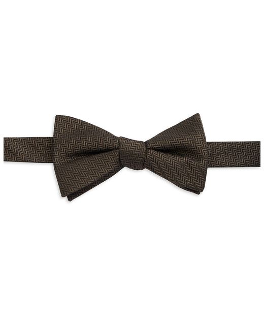 William Rast | Brown Micro Chevron Bow Tie for Men | Lyst