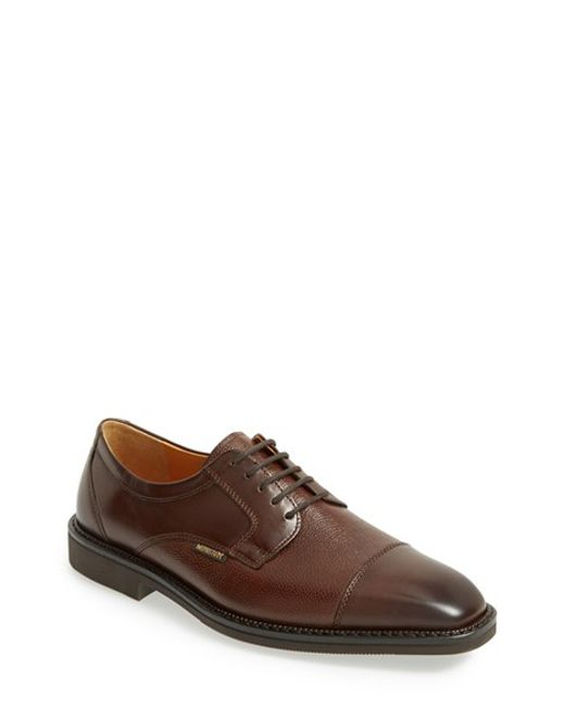 Mephisto | Brown 'poley' Cap Toe Derby for Men | Lyst