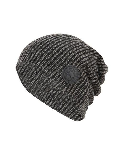 Converse | Black 'winter Slouch' Knit Cap for Men | Lyst