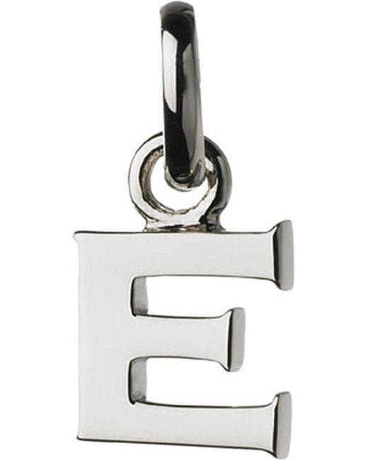 Links of London | Metallic Alphabet E Sterling Silver Charm | Lyst